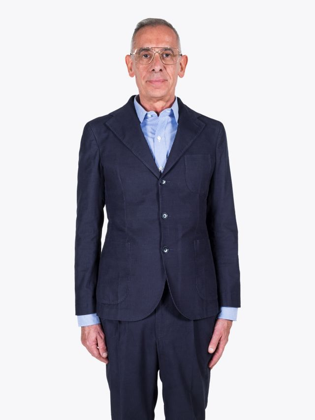 Salvatore Piccolo Slim-Fit Cotton-Corduroy Blazer Blue 1