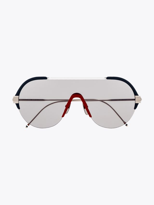 Thom Browne TB-811 Sunglasses Navy – White – Red 1