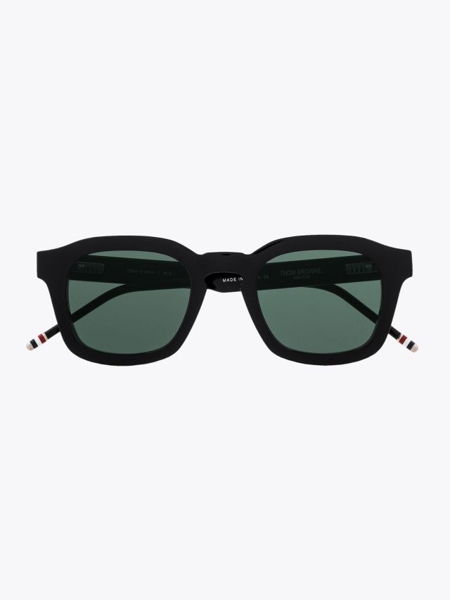 Thom Browne TB-412 Round Sunglasses Black Front View