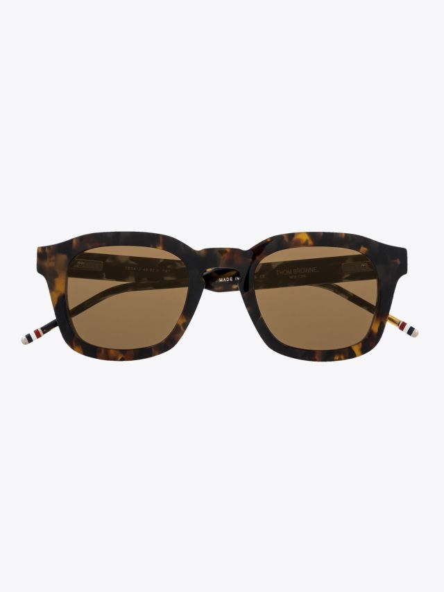 Thom Browne TB-412 Round Sunglasses Tokyo Tortoise Front View