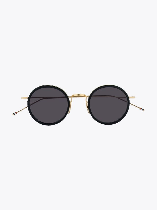 Thom Browne TB-906 Sunglasses Black – White Gold 1