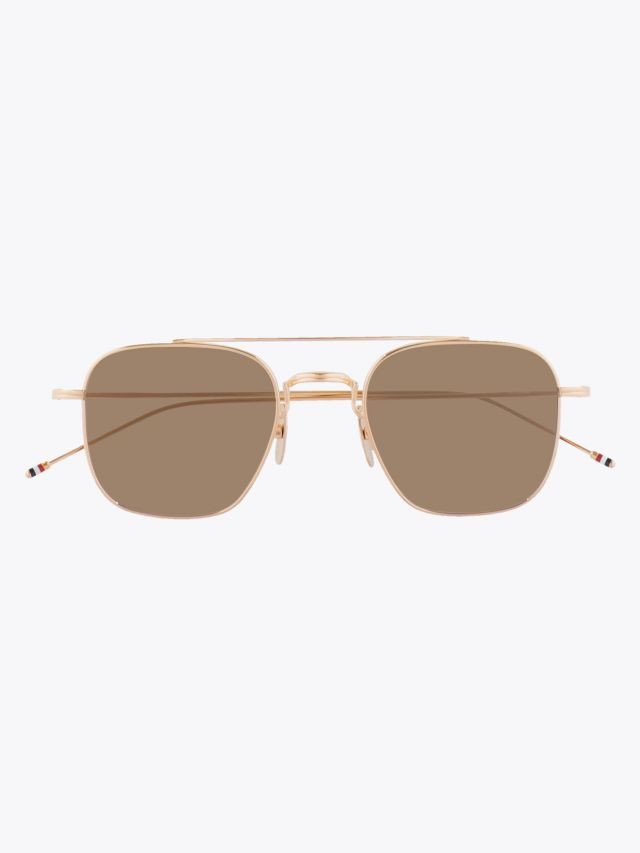 Thom Browne TB-907 Sunglasses White Gold 1