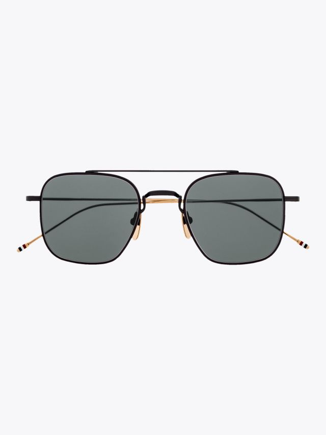 Thom Browne TB-907 Sunglasses Black Iron 1
