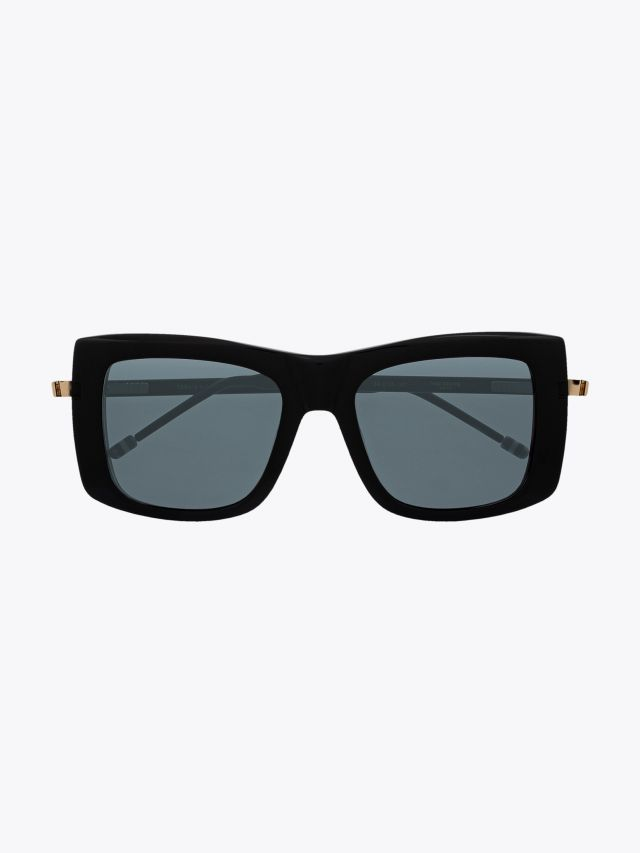 Thom Browne TB-419 Square- Frame Sunglasses Black Front View