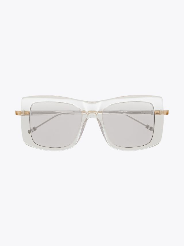 Thom Browne TB-419 Square- Frame Sunglasses Crystal Front View