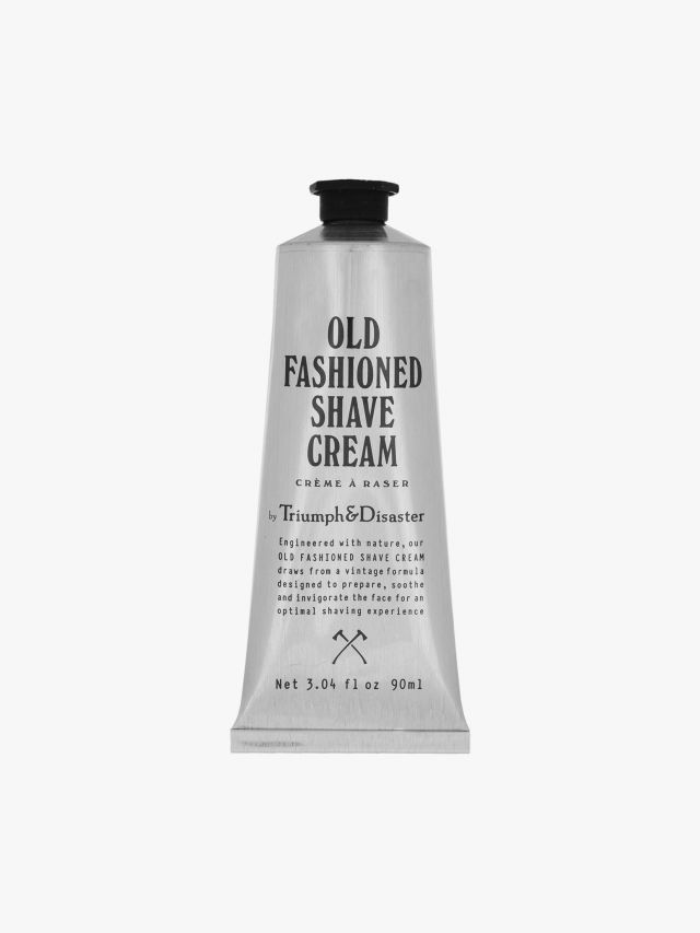 Old Fashioned Shave Cream Tube - Triumph & Disaster 90ml front view