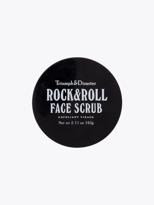 Rock & Roll Face Scrub - Triumph & Disaster front view