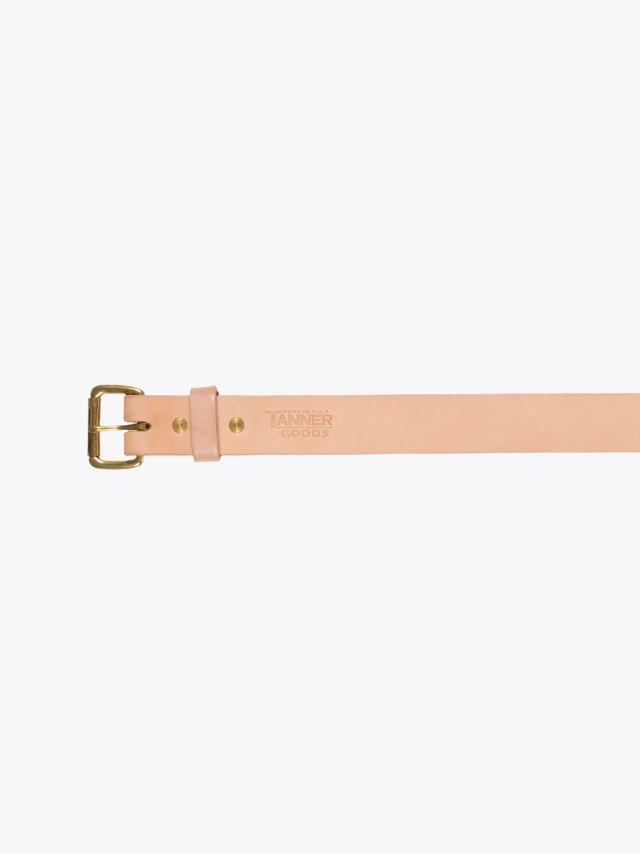 Tanner Goods Standard Belt Natural - Brass 1