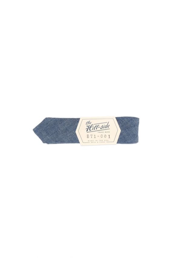 The Hill-Side Bow Tie Selvedge Chambray Indigo