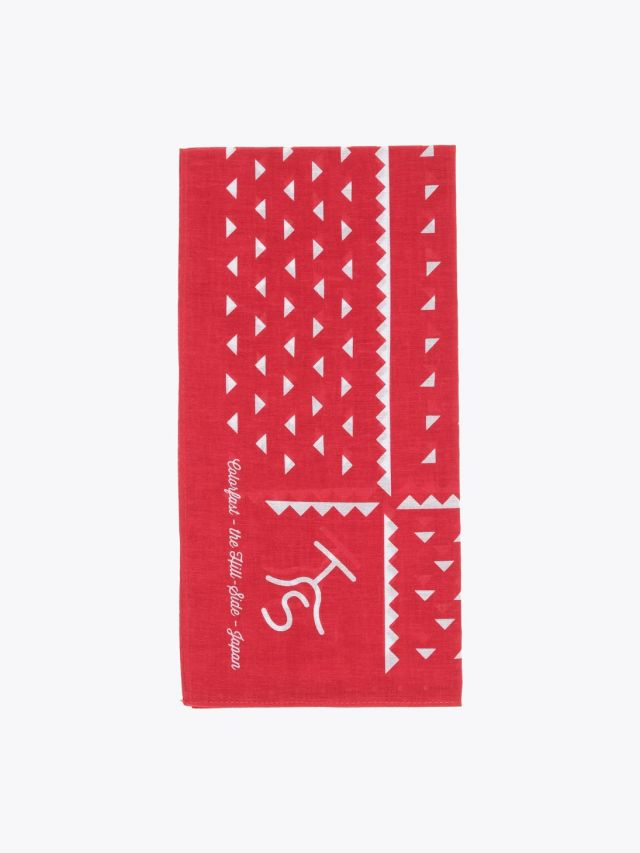 The Hill-Side Souvenir Bandana Rancher Logo Red Front
