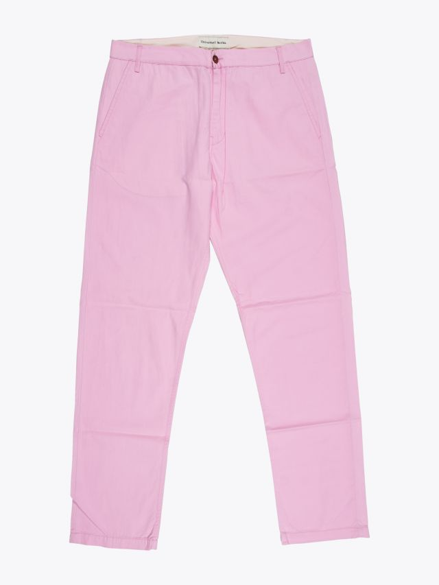 Universal Works Aston Pant in Summer Twill Pink 1