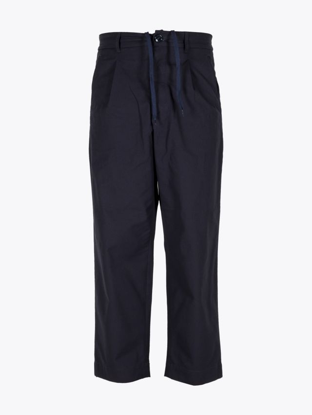 A Vontade 1 Tuck Atelier Easy Cotton Pants Dark Navy 1